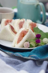 無花果のサンドイッチの写真素材 [FYI01266963]