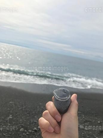 海とはちまき石の写真素材 [FYI01266983]