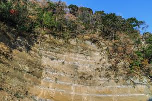 秋の養老渓谷の中瀬遊歩道から見た風景の写真素材 [FYI01267228]