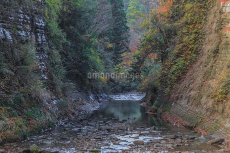 秋の養老渓谷の弘文洞跡の風景の写真素材 [FYI01267248]