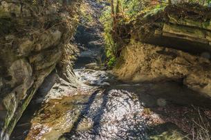 秋の養老渓谷のやまびこセンター近くの渓流の風景の写真素材 [FYI01267306]