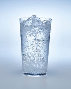 炭酸水の入ったグラスの写真素材 [FYI01267502]