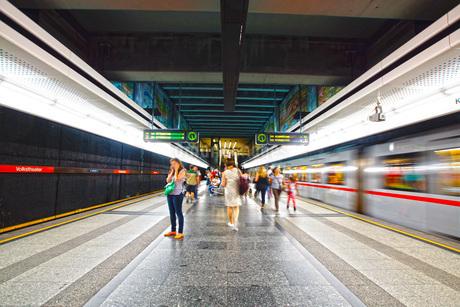オーストリア・ウィーンの鉄道の写真素材 [FYI01267553]