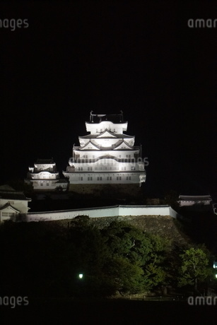 夜の姫路城の写真素材 [FYI01268012]