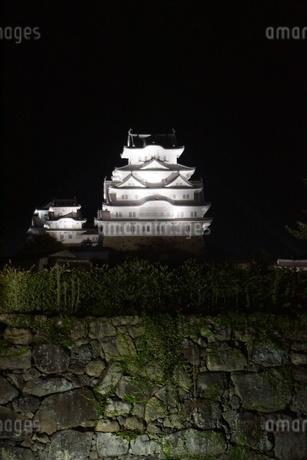 夜の姫路城の写真素材 [FYI01268014]