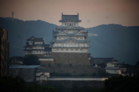 早朝の姫路城の写真素材 [FYI01268017]