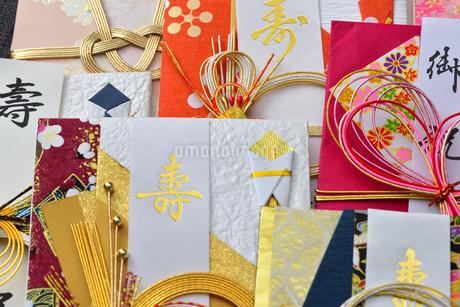 たくさんのご祝儀袋の写真素材 [FYI01268051]
