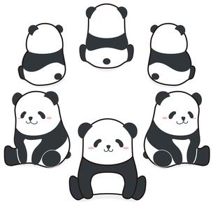 パンダ集合のイラストのイラスト素材 [FYI01268320]