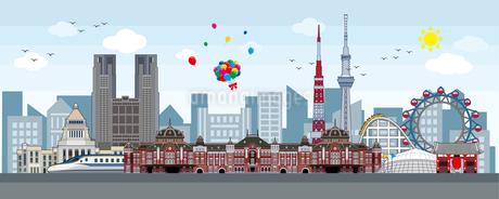 東京シンボルイメージイラストのイラスト素材 [FYI01268322]