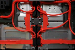 電気自動車のエンジンルームの写真素材 [FYI01269132]