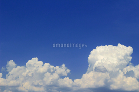 晴れた夏の空に浮かぶ雲の風景の写真素材 [FYI01269150]