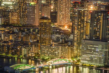 カレッタ汐留からの東京の夜景の写真素材 [FYI01269431]