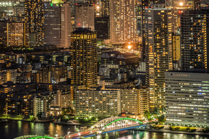 カレッタ汐留からの東京の夜景の写真素材 [FYI01269432]