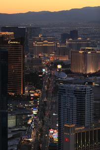 ラスベガス 夜景 俯瞰の写真素材 [FYI01269670]