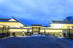 春の山形城跡の二の丸東大手門の風景の写真素材 [FYI01270001]