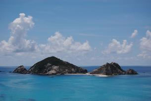 南国沖縄の渡嘉敷島の無人島の写真素材 [FYI01270141]