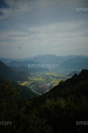 竹田城址から見た風景 竹田町の町並みの写真素材 [FYI01270202]