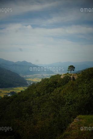 竹田城址から見た風景の写真素材 [FYI01270210]