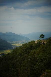 竹田城址から見た風景の写真素材 [FYI01270211]
