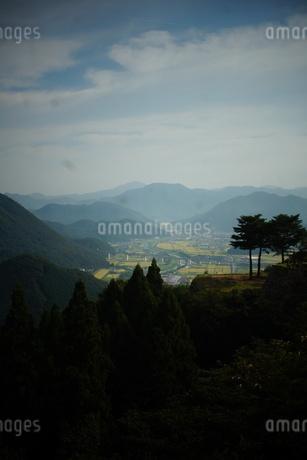 竹田城址から見た風景 竹田町の町並みの写真素材 [FYI01270215]