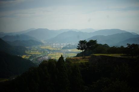 竹田城址から見た風景 竹田町の町並みの写真素材 [FYI01270218]