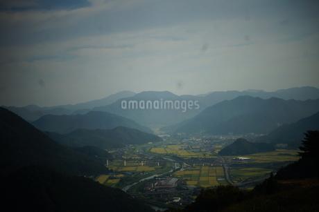 竹田城址から見た風景 竹田町の町並みの写真素材 [FYI01270220]
