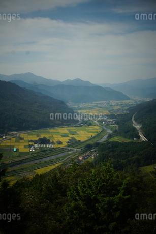 竹田城址から見た風景 竹田町の町並みの写真素材 [FYI01270248]