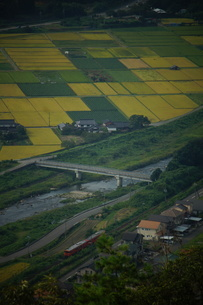 竹田城址から見た風景 竹田町の町並みの写真素材 [FYI01270255]