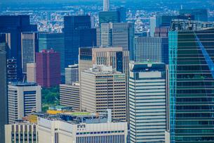六本木ヒルズから見える東京の街並みの写真素材 [FYI01270285]