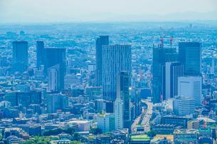 六本木ヒルズ展望台からの渋谷の風景の写真素材 [FYI01270301]