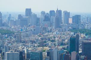 六本木ヒルズ展望台からの新宿風景の写真素材 [FYI01270308]