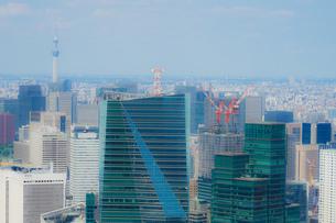 東京スカイツリーと都市風景の写真素材 [FYI01270327]