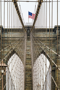 ブルックリンブリッジ(アメリカ・ニューヨーク)の写真素材 [FYI01270371]