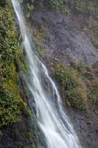 岩肌を流れる小さな滝の写真素材 [FYI01270392]
