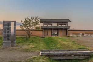 春の志波城跡の風景の写真素材 [FYI01270727]