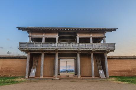 春の志波城跡の風景の写真素材 [FYI01270734]
