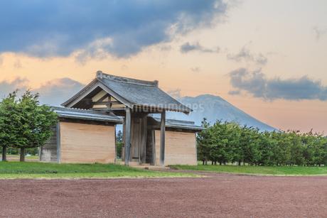 春の志波城跡の風景の写真素材 [FYI01270739]