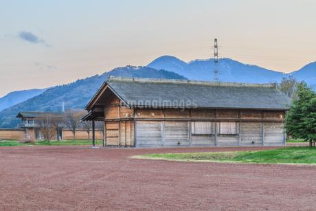 春の志波城跡の風景の写真素材 [FYI01270740]