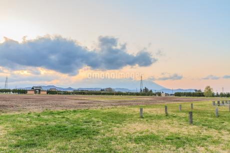 春の志波城跡の風景の写真素材 [FYI01270741]