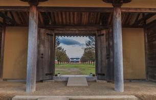 春の志波城跡の風景の写真素材 [FYI01270743]
