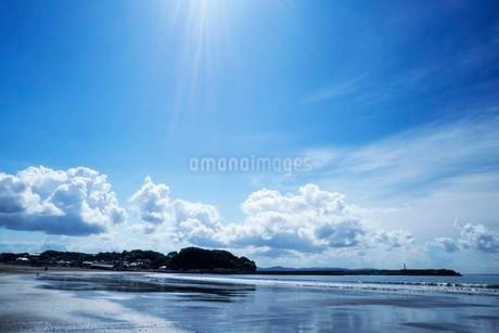 海の空と砂浜の写真素材 [FYI01270781]