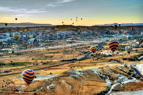 カッパドキア 気球からの展望の写真素材 [FYI01270829]