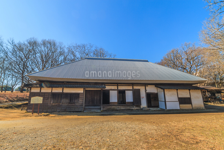 冬の加曽利貝塚の移築された旧大須賀家住宅の写真素材 [FYI01272189]