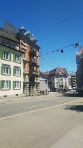 街角 スイス ザンクトガレンの写真素材 [FYI01272257]