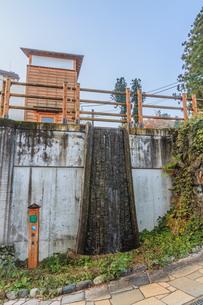 秋の大湯温泉の源泉の風景の写真素材 [FYI01272298]
