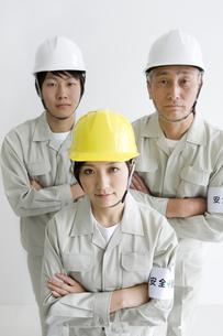 作業着の男性と女性の写真素材 [FYI01274274]