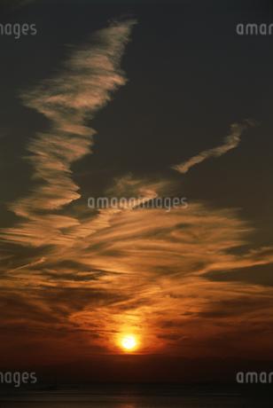 海の夕景の写真素材 [FYI01275482]
