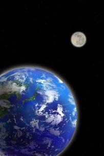 地球と月の写真素材 [FYI01277672]