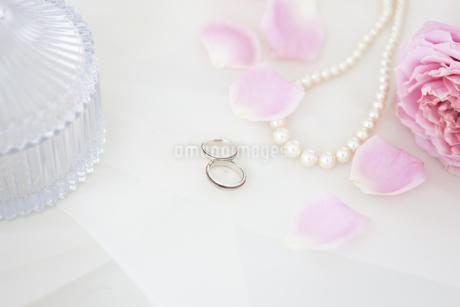 結婚指輪とネックレスの写真素材 [FYI01280984]