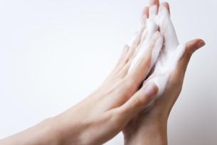 手を洗っている女性の手元の写真素材 [FYI01281124]